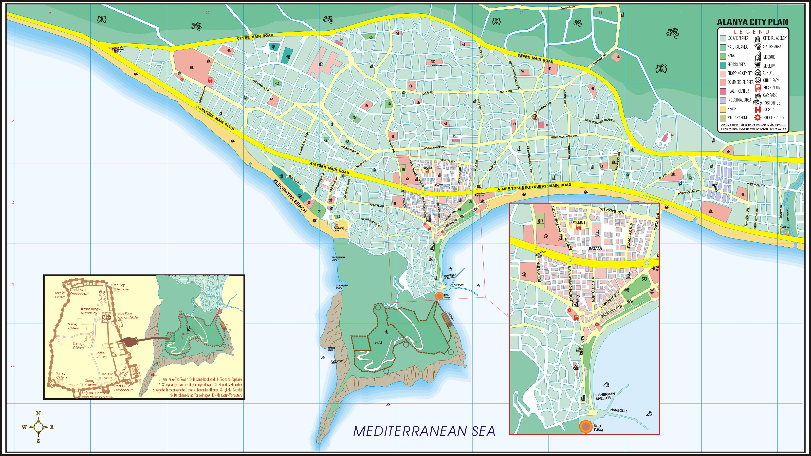 Alanya bus routes
